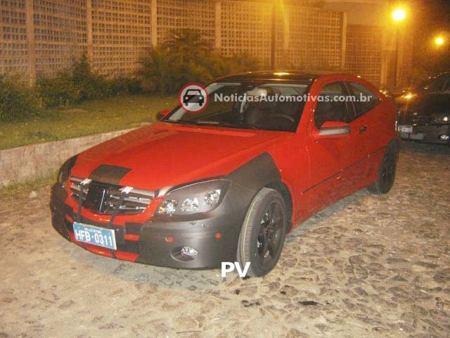 mercedes benz classe c sports coupe flagra brasil 1 Segredo: Mercedes Benz Classe C Sport Coupe no Brasil