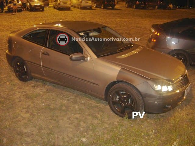 mercedes benz classe c sports coupe flagra brasil 2 Segredo: Mercedes Benz Classe C Sport Coupe no Brasil