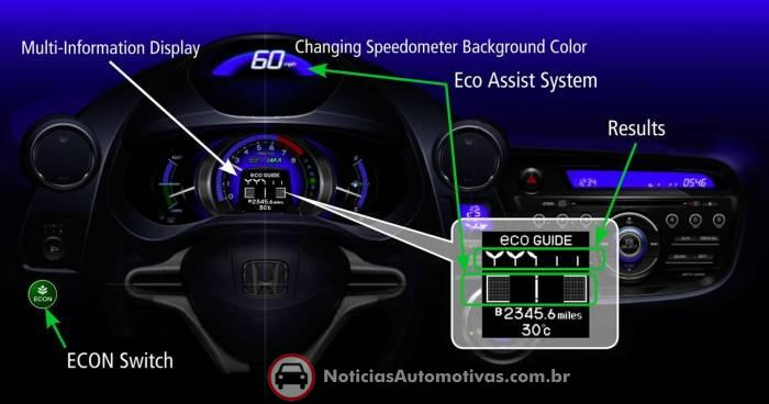 honda-insight-ecological-drive-assist-system Salão de Los Angeles 2008: Honda Insight Ecological Drive Assist System