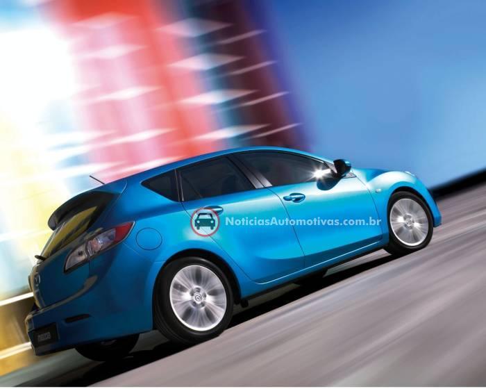 mazda3-hatch-2010-primeiras-imagens-1 EUA: Mazda3 2010 vai chegar nas concessionárias em março
