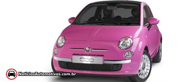 Fiat 500 Pink 1 Fiat 500 Pink é lançado na Europa
