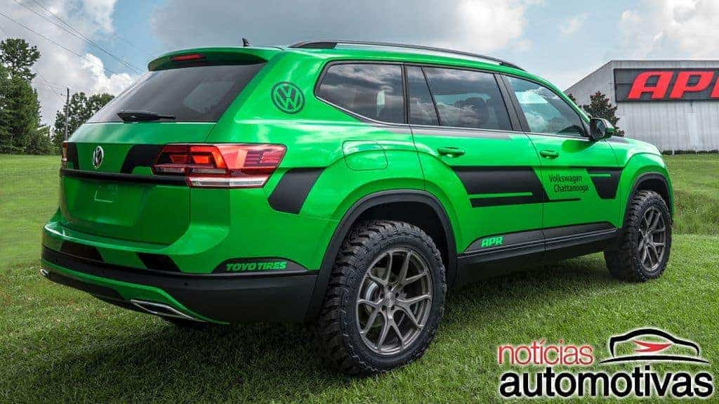 apr transforma suv vw atlas em modelo off road mais potente rankeador