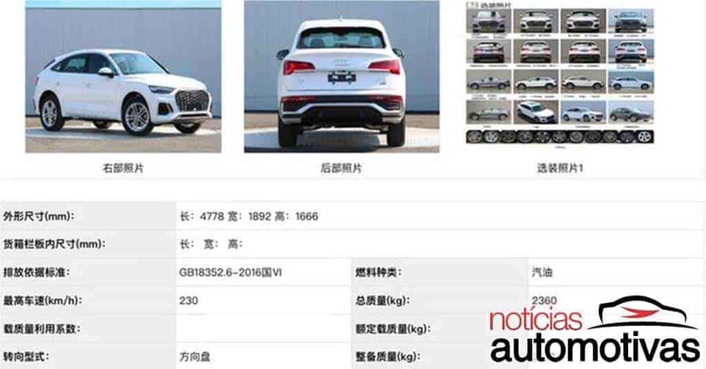 Audi A3L e Q5L Sportback são revelados na China