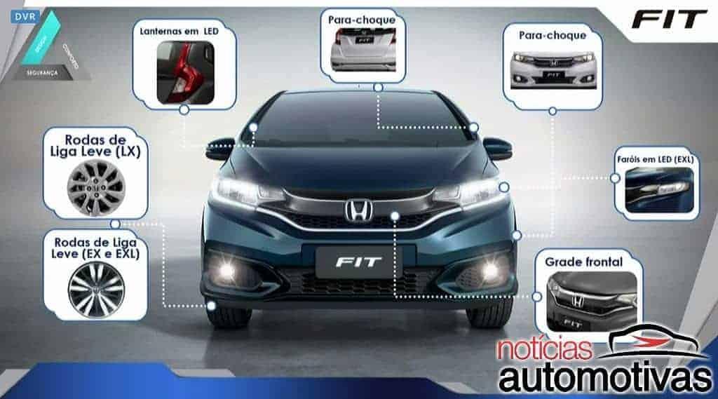 Honda Fit 2018/2019 chega com mudanças no visual e conteúdo por R$ 58.700