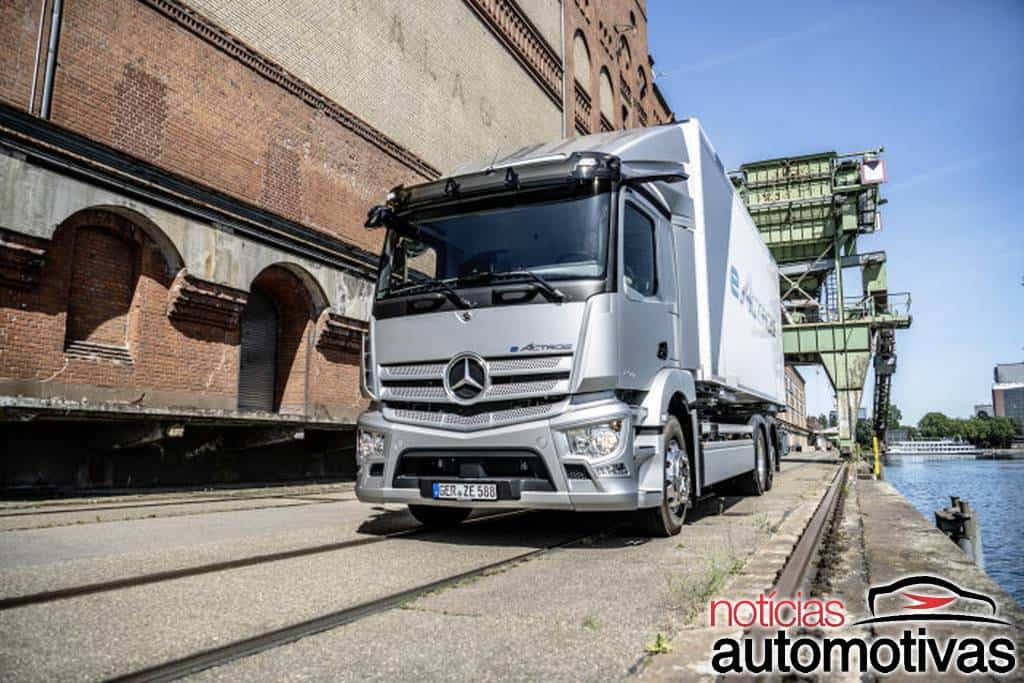 Mercedes-Benz eActros é o primeiro caminhão elétrico da marca