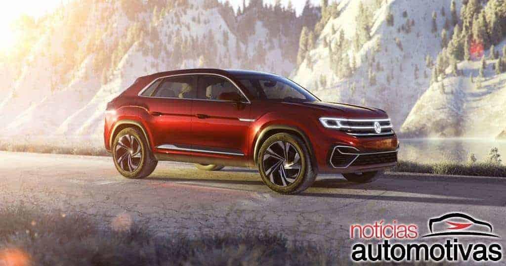 Volkswagen Atlas Coupé é flagrado na China e pode chegar ao Brasil